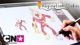 Бен 10 | Как нарисовать Человека-огня | Cartoon Network