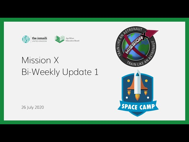 Mission X: Biweekly Update 1 - AKEB