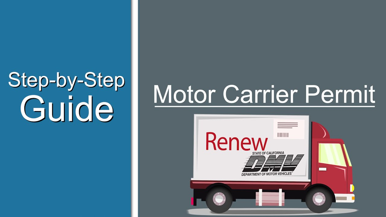 Motor Carrier Permit -  Step by Step