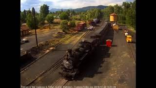 7/8/2018 Seven car train 215 arrives into Chama, NM