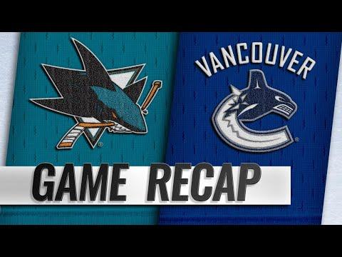 Kane, Thornton help Sharks down Canucks, 7-2