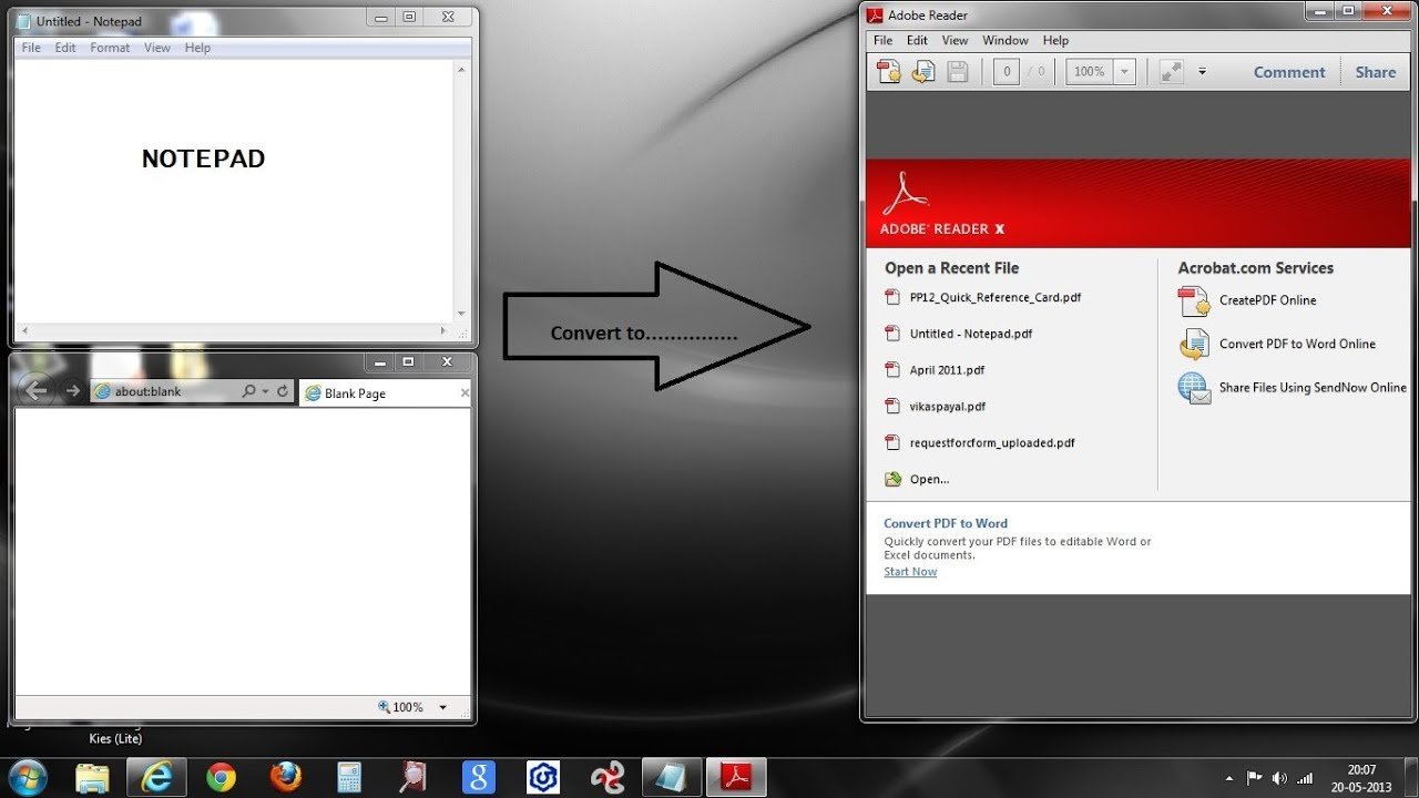 How to convert any files to PDF format