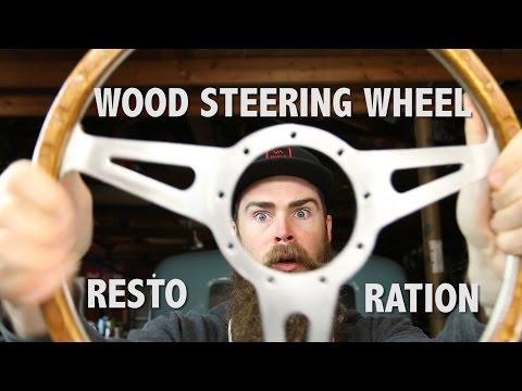 HOW TO RESTORE A WOOD STEERING WHEEL