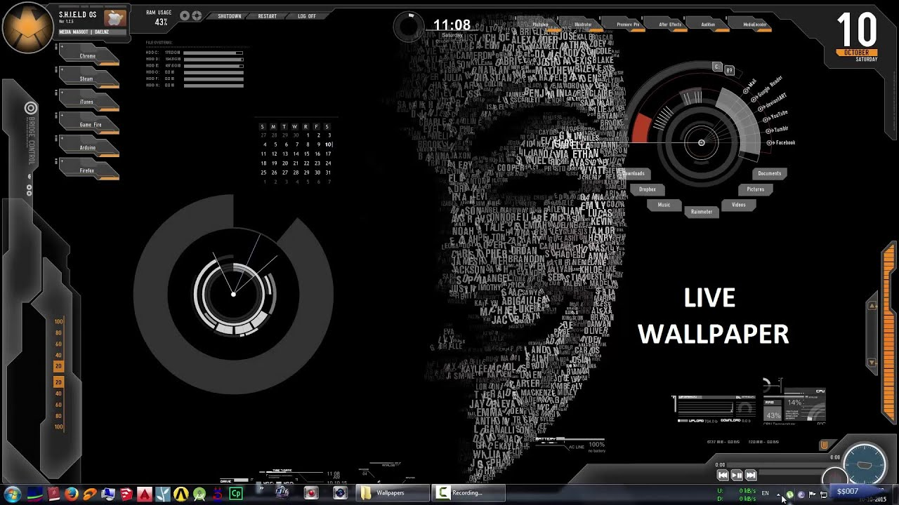 make your desktop alive with live wallpaper - rainmeter | $$007
