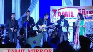 Pravin Saivi with Praba, Steve at the Tamil Mirror Gala 2014.