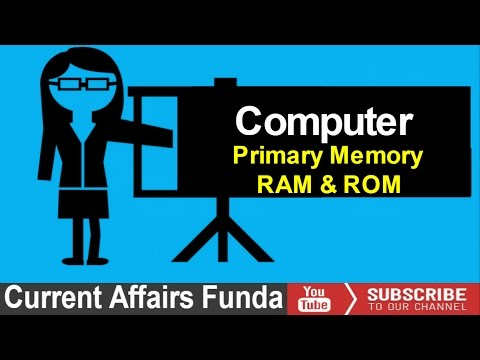 Primary Memory RAM & ROM Lecture - 9 (LIC AAO , IBPS , SBI , PO and Clerk)