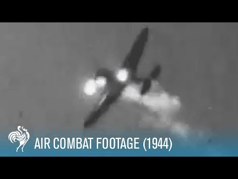 Incredible Air Combat Footage Of US And German Planes (1944) | War Archives
