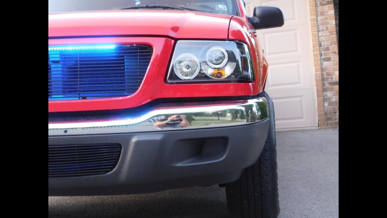 Ford ranger led color changing lightbar youtube mozeypictures Gallery