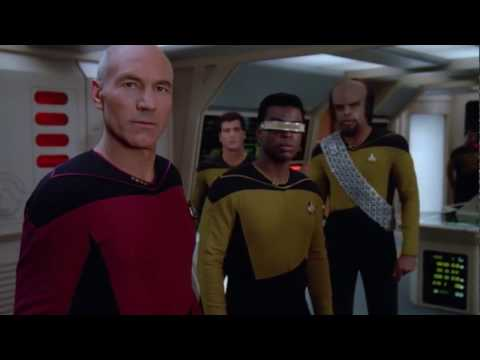 Picard's very first borg contact Star Trek TNG (HD)