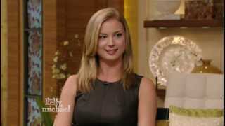 Emily VanCamp - Kelly Ripa interview - gorgeous and leggy