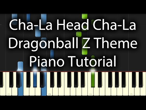 Dragonball Z Intro - Chala Head Chala Tutorial (How To Play On Piano)