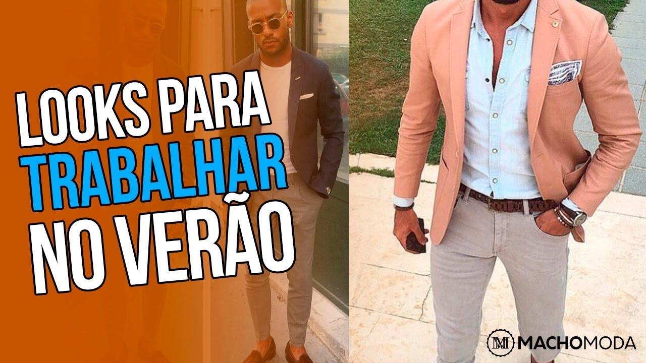 0b3d3d18b48f2 Roupa de Homem para TRABALHAR NO VERÃO 2018 - Look Social Masculino -   DicasMM 👔