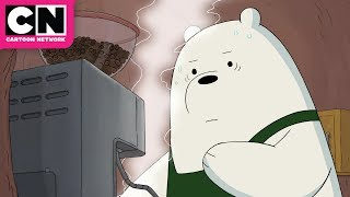 We Bare Bears | Ice Bear Becomes a Barista | Cartoon Network