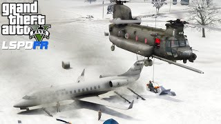 GTA 5 Military Patrol | Chinook Helicopter Search & Rescue Mission For A Crashed Air Force Plane