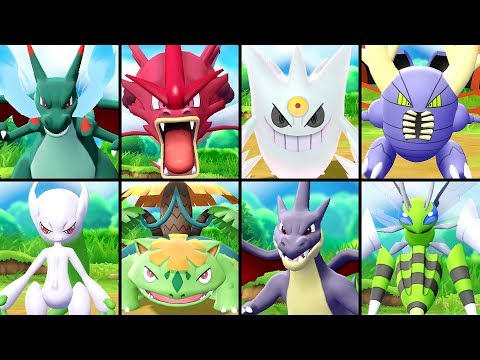 All SHINY Mega Evolutions in Pokémon Let's Go Pikachu & Eevee
