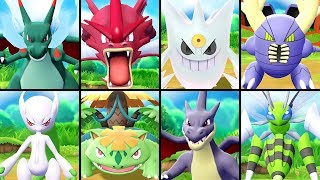 All SHINY Mega Evolutions in Pokémon Let's Go Pikachu & Eevee