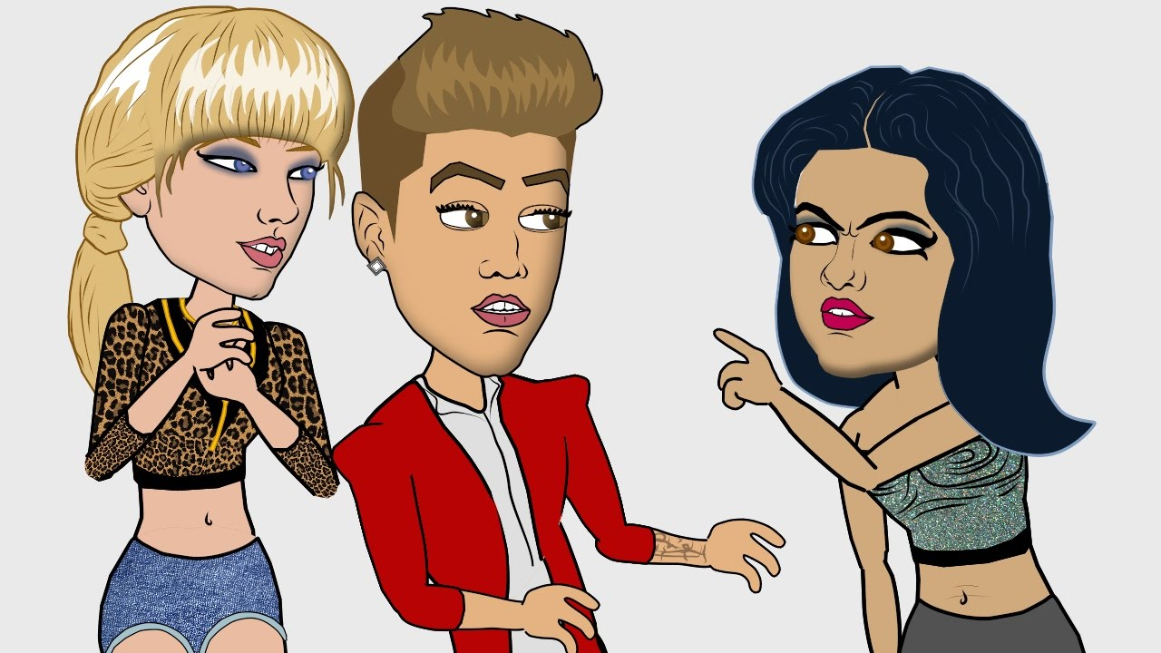 cartoon Justin bieber
