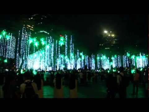 Spectacular Spectrum of Lights at the Ayala Triangle Gardens 2011 HD