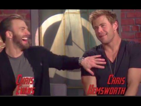 Chris Evans & Chris Hemsworth Funny Moments (2015)