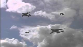 Antonov AN-225 Mriya, AN-70 and AN-148 airplanes are performing box of of four formation flight
