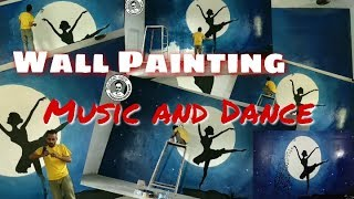 Wall painting for Music or Dance room