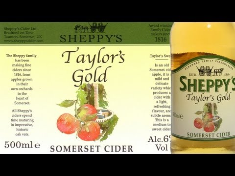 Sheppy's Taylors Gold Apple Cider 6.0% cider review