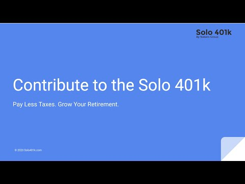 How to Make Solo 401k Contributions (Webinar Replay)