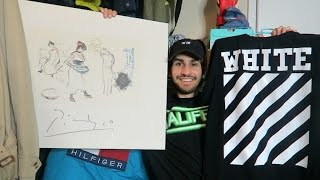 TRIP TO THE THRIFT HAUL #11: FOUND PABLO PICASSO!! OFF WHITE, PS3, Stussy, Wu-Tang, Adidas