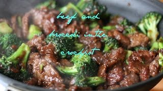 Beef and broccoli in the crockpot