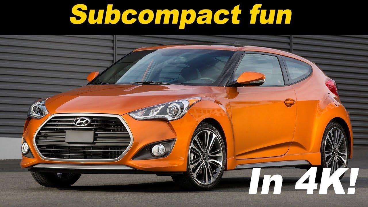 2017 Hyundai Veloster Turbo Review And Road Test In 4k Uhd
