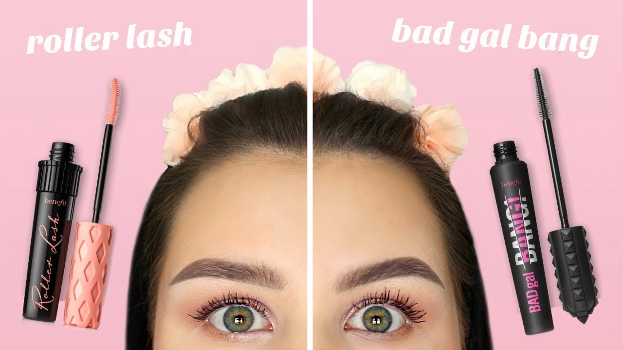 fabb8ab2ec2 BENEFIT BAD GAL BANG vs. ROLLER LASH | First Impressions + Mascara ...