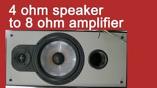 speaker impedance VS output power, 4 6 ohm load test ; impedance matching for 300b tube amplifier