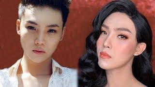 Man To Woman Makeup Transformation #36  -  Best Makeup Asian 2019