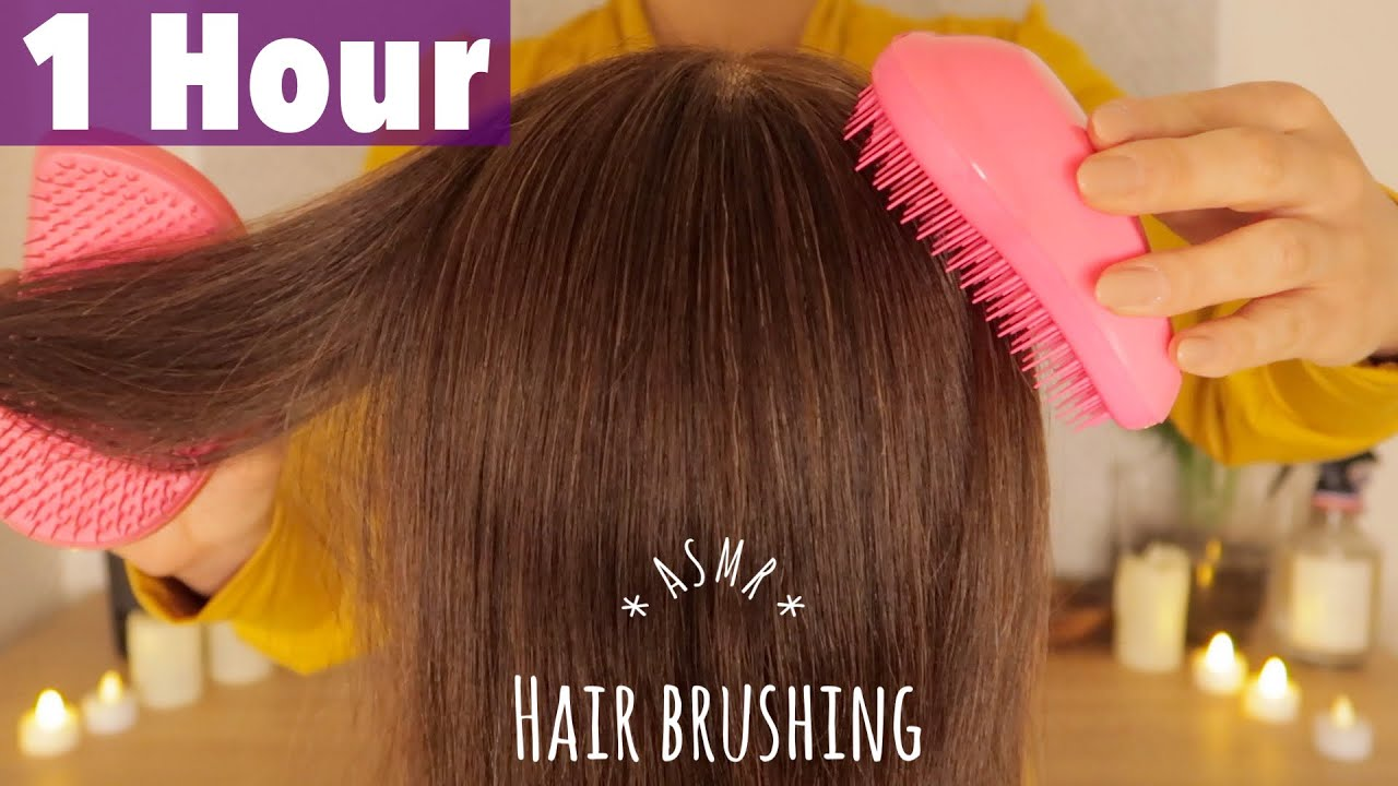 [ASMR] Soothing Hair Brushing 1h with Two Tangle Teezers |  No Talking
