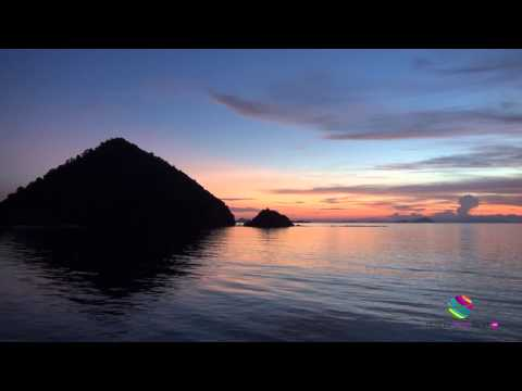 Boats cruising the Flores Sea, Indonesia
