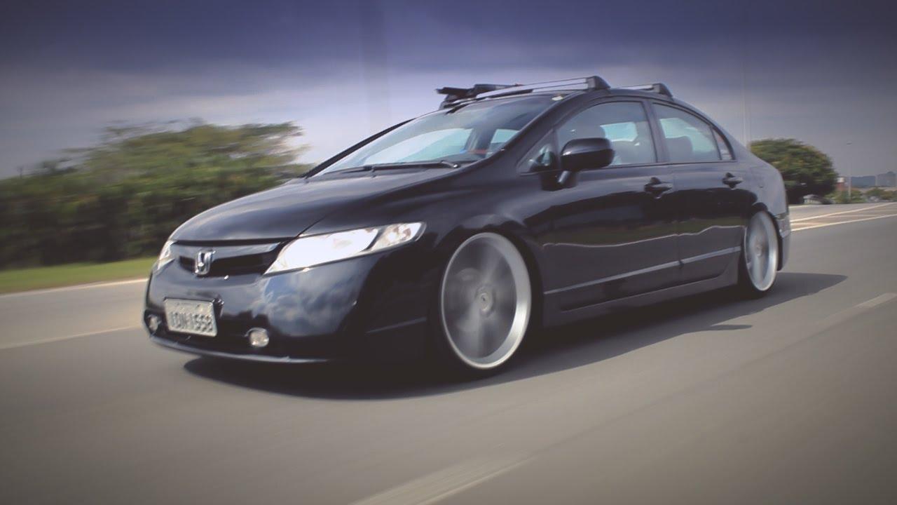 "New Honda Civic >> New Civic Rebaixado - Aro 20"" Vortex - Suspensão fixa - YouTube"
