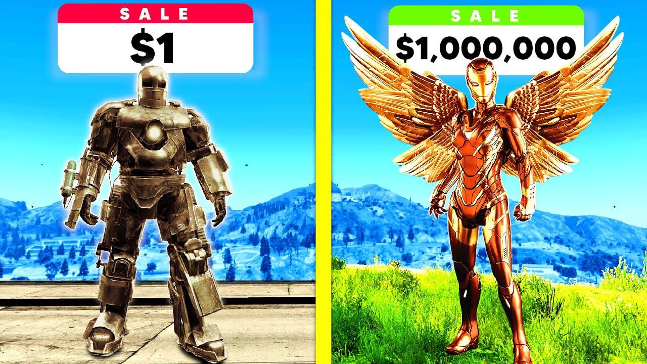 Download $1 IRON MAN Vs $1,000,000 IRON MAN In GTA 5!