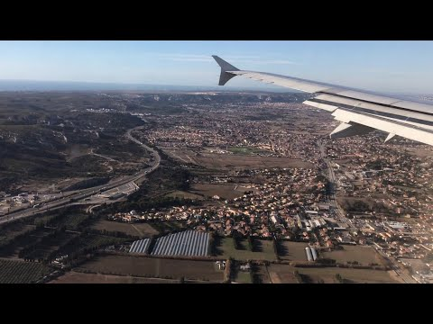 Air France Airbus A321, Paris CDG To Marseille + Flying Over Paris [FULL FLIGHT REPORT] Fort Mistral