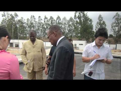visite de travail de l'AG de congo telecom a la station fibre optique de matombi partie 3
