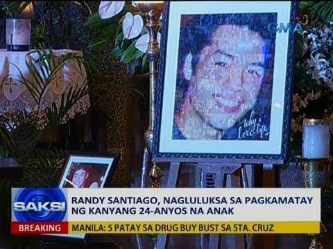 Saksi: Randy Santiago, nagluluksa sa pagkamatay ng kanyang 24-anyos na anak