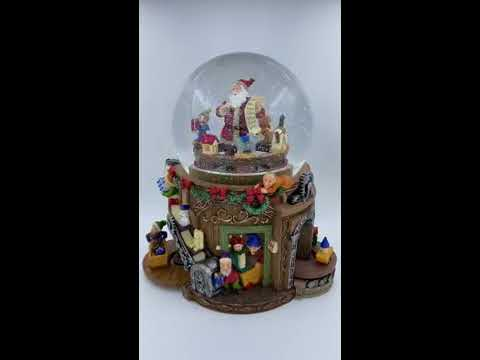 "Musical Snow Globe - Santa's Workshop with Melody ""12 Days of Christmas"" (55114)"