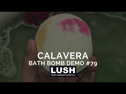 LUSH COSMETICS Bath Bomb Demo #79: Calavera Bath Bomb from LUSH KITCHEN