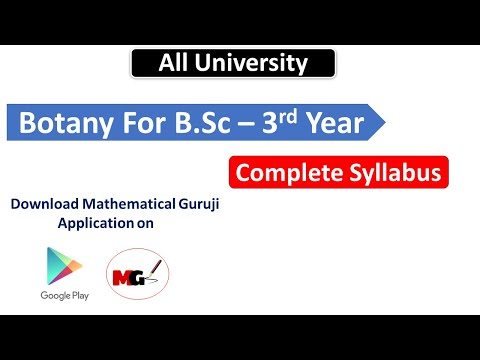 BOTANY FOR Bsc - III Complete Syllabus
