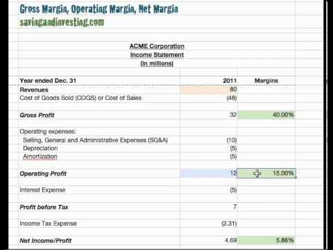 10c Gross Margin Operating Margin And Net Margin Youtube