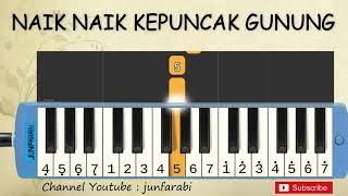 not pianika naik naik ke puncak gunung - lagu daerah nusantara indonesia - belajar pianika not angka