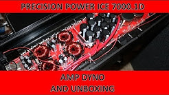 Precision Power Black Ice 7000.1D Amp Dyno and Unboxing
