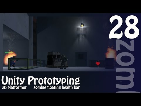 Making Your First Game: Unity 3D Zombie Shooter Platformer - Floating Zombie Health Bar
