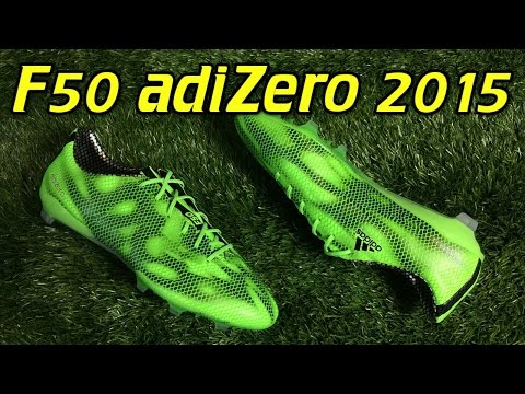 Adidas F50 adizero 2015 Solar Green/Black - Review + On Feet