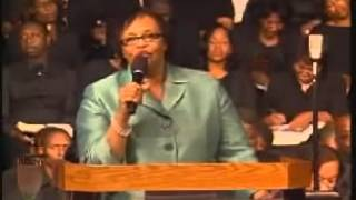 Rev  Jackie McCullough @ Marvin Winans Church CLIP 2