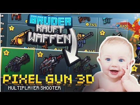 Ihr 4 JÄHRIGER BRUDER kauft WAFFEN! | Pixel Gun 3D